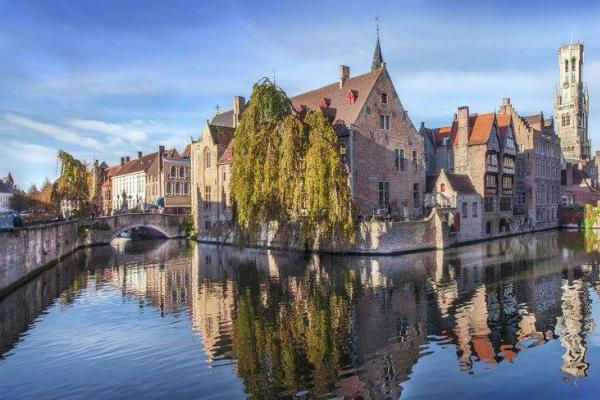 view on Bruges canals